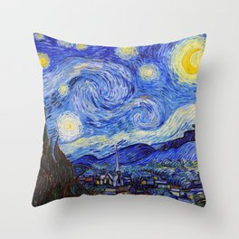 "Vincent Van Gogh "" Starry Night "" Throw Pillow"