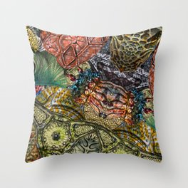Psychedelic Botanical 1 Throw Pillow