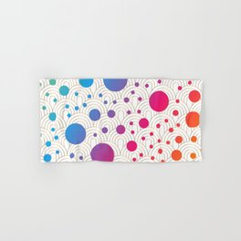 Abstract colorful background with cirlces Hand & Bath Towel