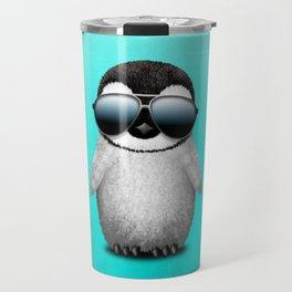 Cute Baby Penguin Wearing Sunglasses Travel Mug