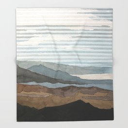 Salton Sea Landscape Throw Blanket