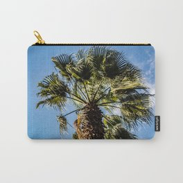 A palm tree moved by the wind Carry-All Pouch