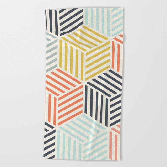 Colorful Geometric Beach Towel