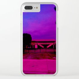 Pink Staircases in the Distance Clear iPhone Case