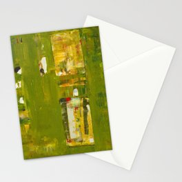 Iodine Green Abstract Art Modern Print Stationery Cards