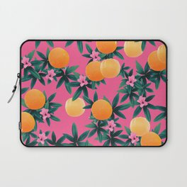 Orange Twist Flower Vibes #1 #tropical #fruit #decor #art #society6 Laptop Sleeve