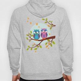 Sleepy owls in love Hoody