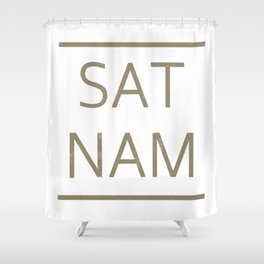 SAT NAM glow Shower Curtain