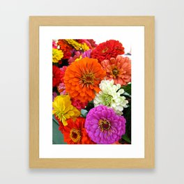 Flower Power Framed Art Print
