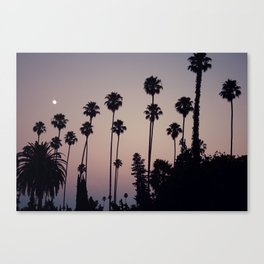 Hollywood Forever Cemetery Sunset  Canvas Print