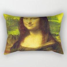 Mona Lisa's Haze (yellow) Rectangular Pillow