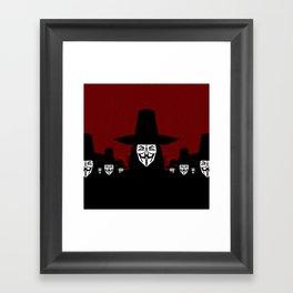 Million Mask March Framed Art Print