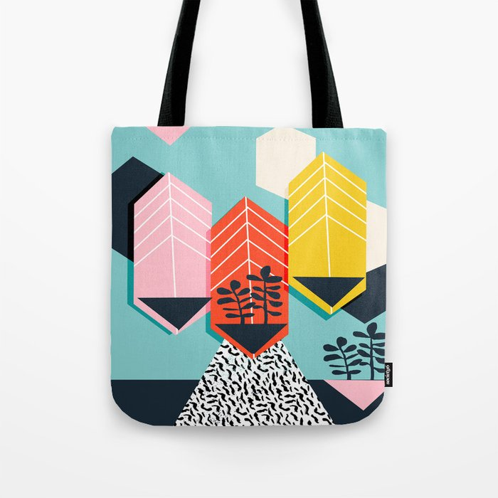 Legit - throwback 80s style memphis neon texture art print pop art dorm college hipster trendy urban Tote Bag