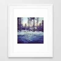 neverland Framed Art Prints featuring Neverland by Out of Line