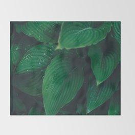 Moist Leaves Throw Blanket