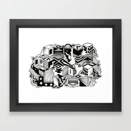 Cube-ular Framed Art Print