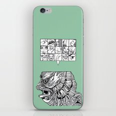 the man the monster iPhone & iPod Skin