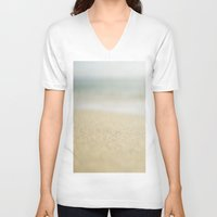 sand V-neck T-shirts featuring Sand by Pure Nature Photos