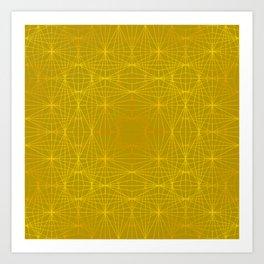 ELEGANT YELLOW GREEN  MELANGE of DIAMONDS Art Print