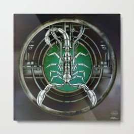 """Astrological Mechanism - Scorpio"" Metal Print"
