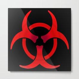 Biohazard - Red Metal Print
