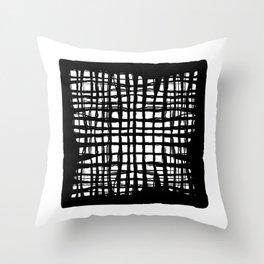 black and white screen Throw Pillow