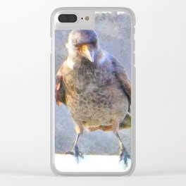 Jackdaw Watercolor Clear iPhone Case