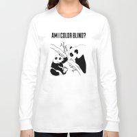 pandas Long Sleeve T-shirts featuring Pandas by Raaz Herzberg