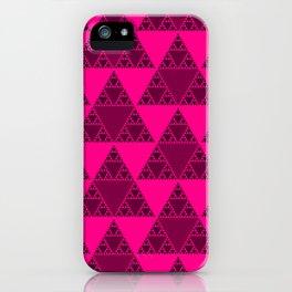 Sierpinski Pink Triangles iPhone Case