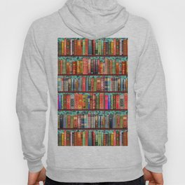 Vintage Books / Christmas bookshelf & holly wallpaper / holidays, holly, bookworm,  bibliophile Hoody
