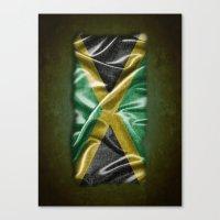 jamaica Canvas Prints featuring Jamaica flag by DesignAstur