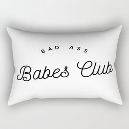 BAD ASS BABES CLUB W&B Rectangular Pillow