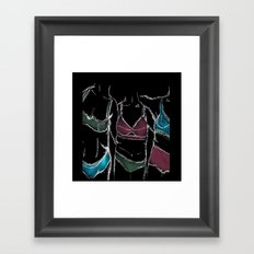 3  women  3 bodies - Negative  Framed Art Print