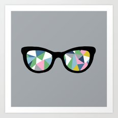 Abstract Eyes Art Print