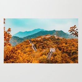 The Great Wall of China in Autumn (Color) Rug