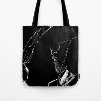 django Tote Bags featuring Django by JessicaBader