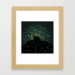 Lovecraft Shoggoth Framed Art Print