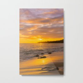 Seeing the sun goes down at Laguna Beach Metal Print