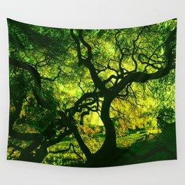 Green is the Tree Wall Tapestry