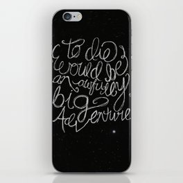 Peter Pan Quote iPhone Skin