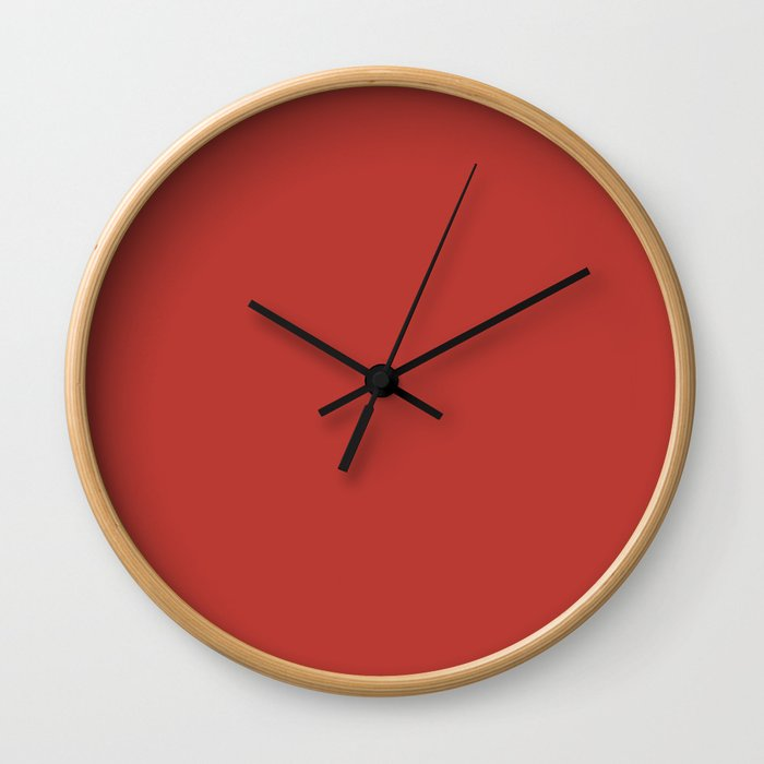 PANTONE 18-1550 Aurora Red Wall Clock
