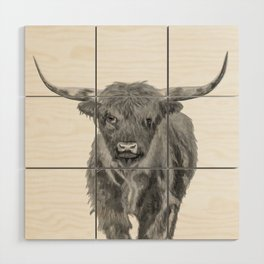 Black and White Cow Wood Wall Art