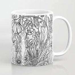 little bee in the garden Coffee Mug
