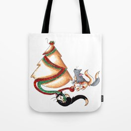 Christmas Cat Tree Tote Bag