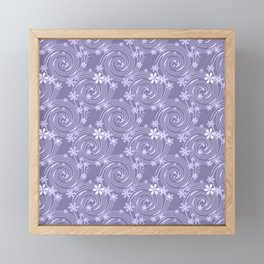 abstract flowers 1 Framed Mini Art Print