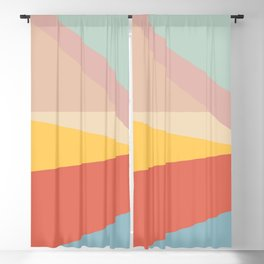 Retro Abstract Geometric Blackout Curtain
