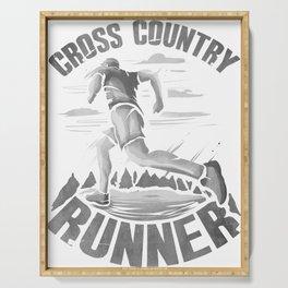 Running Addict Cross Country Runner Serving Tray