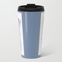 Steve and Tony Heroic Nude Pinups Travel Mug