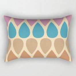 Tear drop pattern - warm tone palette  Rectangular Pillow