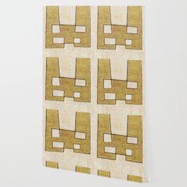 Protoglifo 06 'Mustard traverse cream' Wallpaper